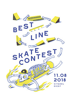 Poster design to promote a skateboarding contest